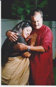 Venu Nagavalli and Srividya in Sreekumaran Thampi's Ammathaburatty