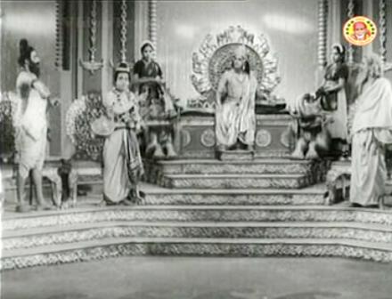 Vishwamitra and Vasishta's wager in the court of Indra