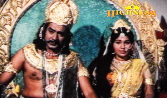 Jose Prakash and Kaviyoor Ponnamma in Satyavan Savithri (1977)