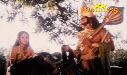 Savitri's questions  Yamadeva in Satyavan Savithri  (1977)