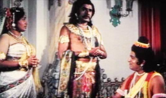 TP Madhavan in Satyavan Savithri (1977)
