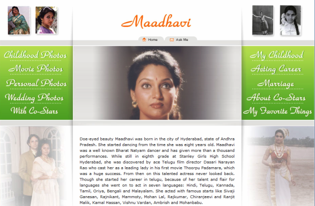 Maadhavi's Website