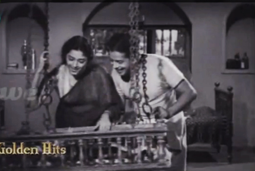 Padmini and Sathyan in Snehaseema (1954)