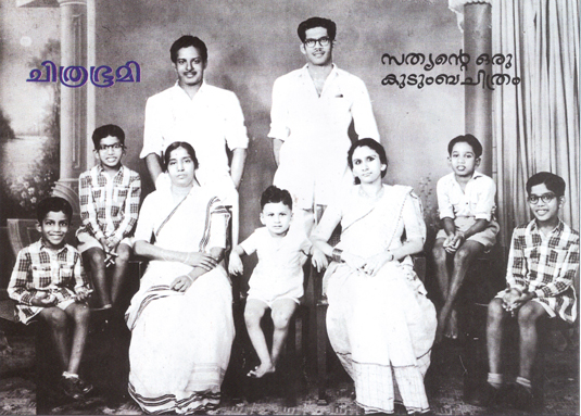 Actor Sathyan's Family Portrait