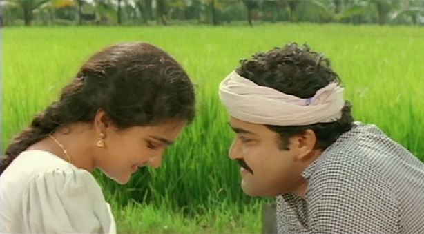 Urvashi and Mohanlal in Laal Salaam (1989)