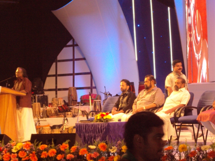 Pournamichandrika 2012 |  Sreekumaran Thampy with his Inaugural Address