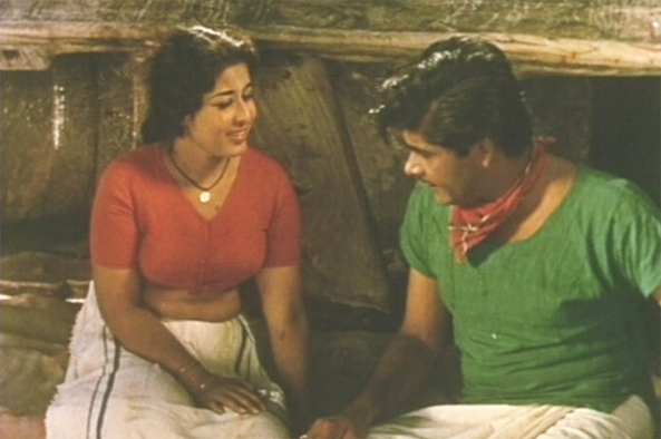 Madhu and Sheela in Chemmeen (1965)