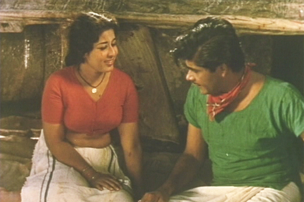 Madhu and Sheela in Chemmeen (1965)