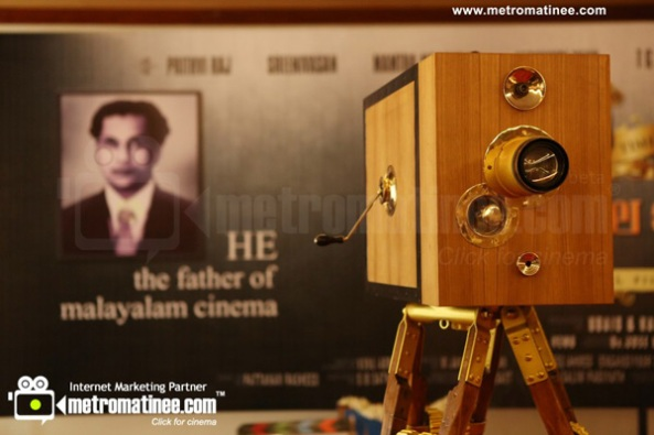 Movie camera replica in Celluloid, biopic of JC Daniel