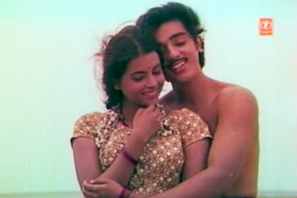 Kamal Haasan and Rita Bhaduri in Kanyakumari (1974)