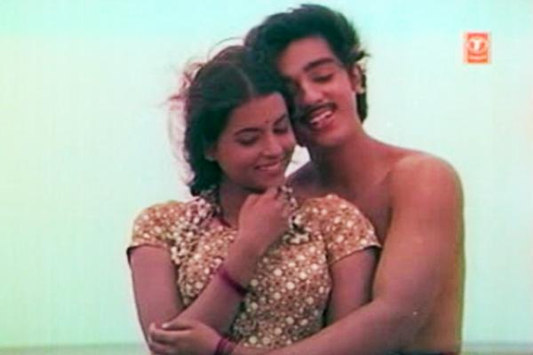 Kamal Haasan and Rita Bhaduri in Kanyakumari (1974)